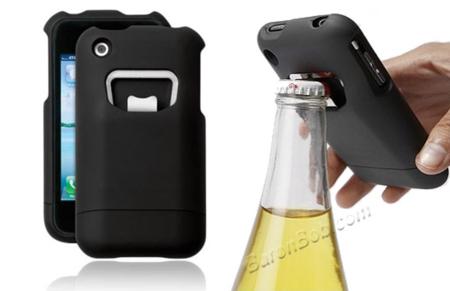 El sueño del cervecero: funda para el iPhone con abridor incorporado