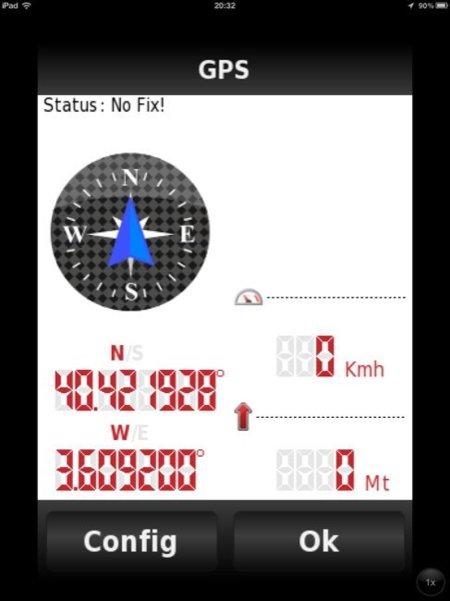 Vista de GPS de NAVV