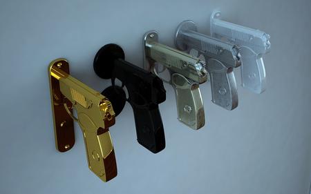 Una mala idea: pistolas como manillas para las puertas