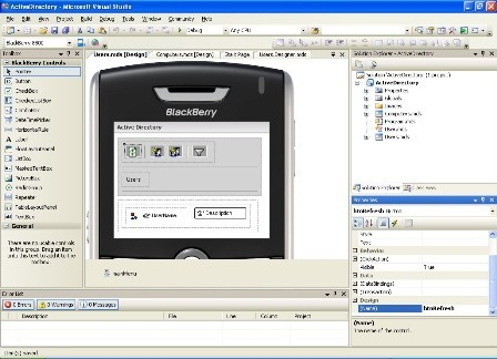 Disponible el plugin BlackBerry para Visual Studio 2005