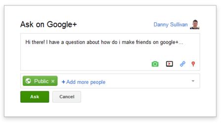 Google lanza su Q&A para Google+ integrado con su buscador