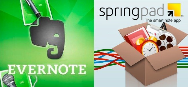 Vuelta al cole, Evernote y Springpad