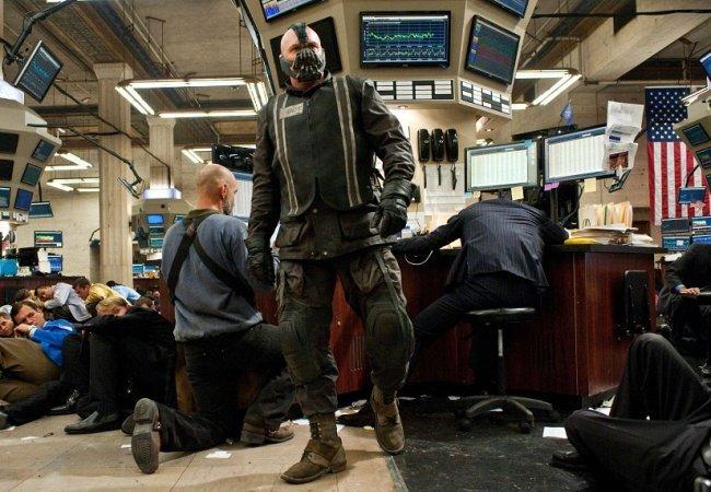 Tom Hardy como Bane, en una escena de la última entrega de Batman