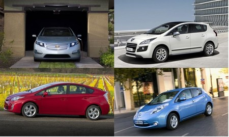 LEAF, Ampera, Prius y 3008 HYbrid4, ¿los comparamos o no? Regreso a Motorpasión Futuro