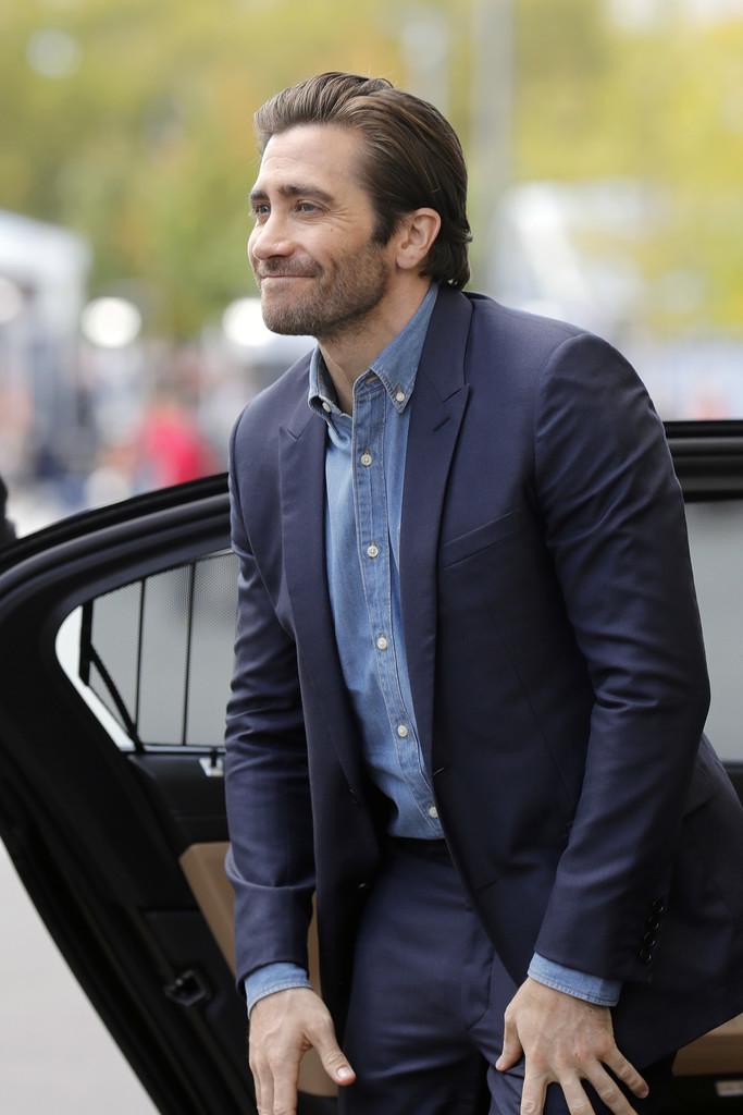 Jake Gyllenhaal Denim Shirt Zurich Film Festival 2