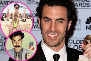 Borat irrumpe en Milán como modelo espontáneo