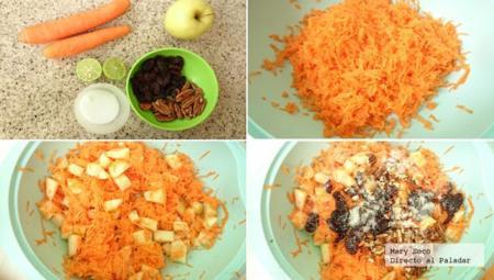 cómo hacer ensalada de zanahoria y manzana