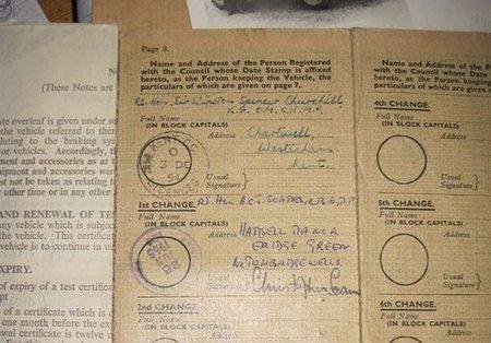 Documentación del Land Rover de Winston Churchill