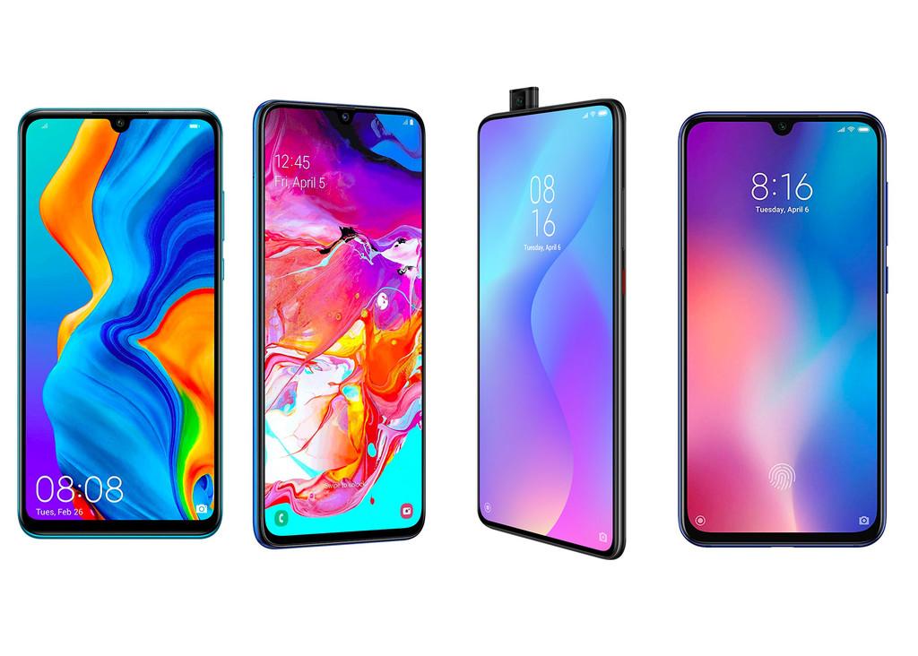 Xiaomi Mi 9T, comparativa: de este metodo queda contra el Samsung® Galaxy™ A70, Xiaomi Mi 9 SE, Realme 3 Pro y Huawei® P30 Lite