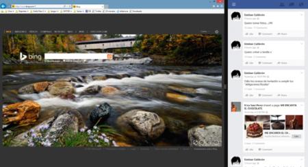 Dos aplicaciones en Windows 8.1