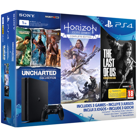 Oferta Flash Pack Playstation 4 Slim De 1tb 5 Juegos Por 299 90