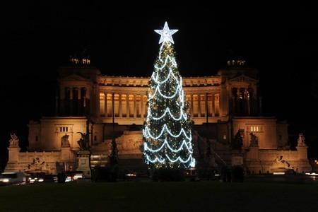 Arbol Navidad Luces Roma 2
