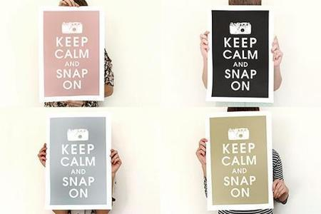 "El poster ""Keep calm and snap on""."