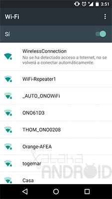 Sin acceso a Internet