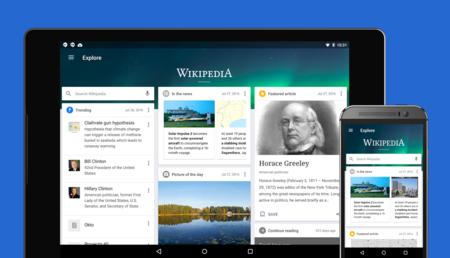 Wikipedia para Android estrena diseño y simplifica su interfaz