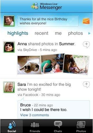 Windows Live Messenger 1.1 para iPhone con interesantes mejoras