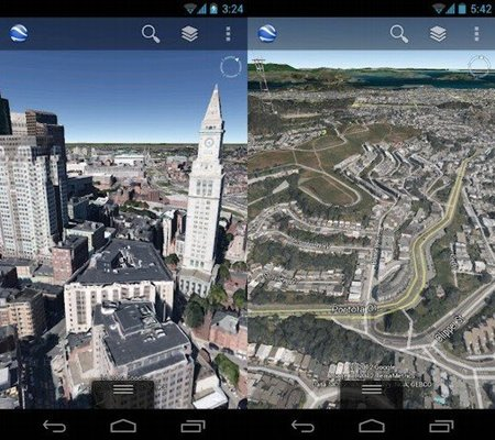 Google Earth con 3D para Android