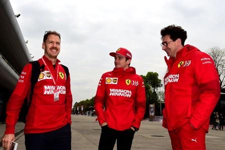 Vettel Leclerc Binotto China Formula1 2019