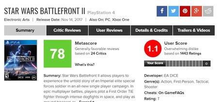 Qué ha pasado con 'Battlefront II' y por qué media comunidad se ha puesto en contra de Electronic Arts