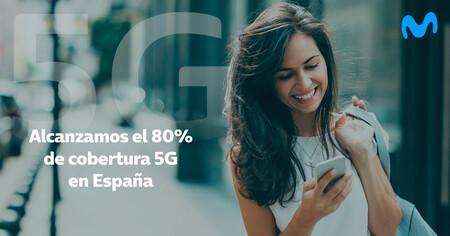 La red 5G de Movistar llega ya al 80% de la población española: Telefónica asegura que cubre más de 1.200 municipios