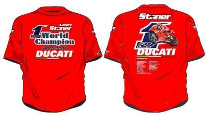La camiseta de Casey Stoner ya a la venta