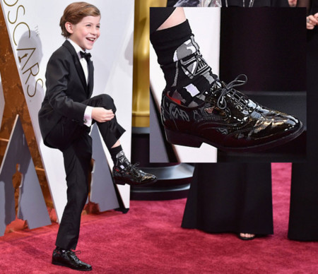 Jacob Tremblay enseña sus calcetines