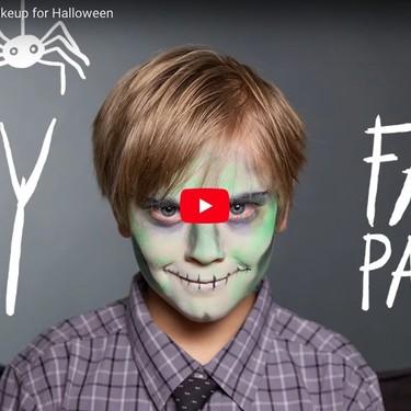 Tres tutoriales en vídeo para maquillar a tu hijos este Halloween