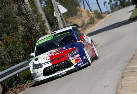 Citroën prueba en pista el C4 Hybrid4 WRC