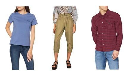Chollos en tallas sueltas de pantalones, camisetas y sudaderas de marcas como Superdry, Pepe Jeans o Lee en Amazon