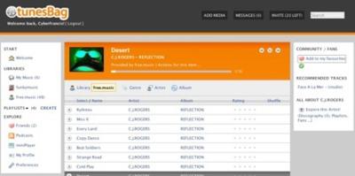 TunesBag, nuestro reproductor musical online con funciones sociales