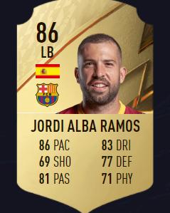 Jordi Alba mejores defensas fifa 22