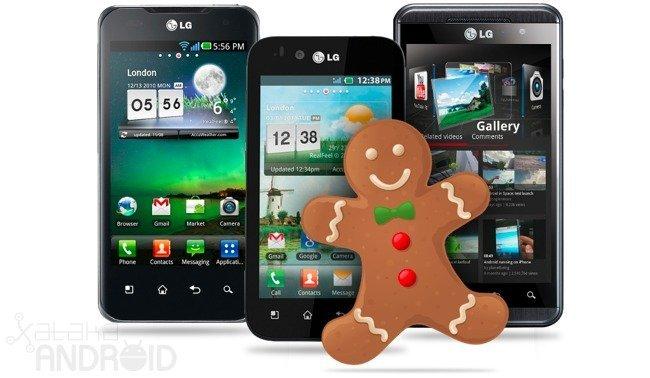 Gama LG Optimus con Gingerbread para noviembre