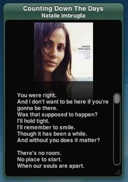 TunesTEXT: Widget para obtener al instante la letra de la canción que suena en iTunes
