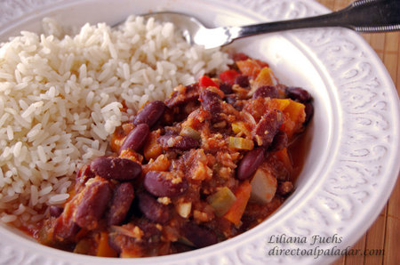 Chili vegetariano. Receta