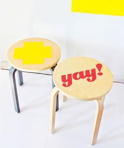 Recicladecoración: Cuatro ideas maravillosas para transformar tu taburete de Ikea en una pieza exclusiva
