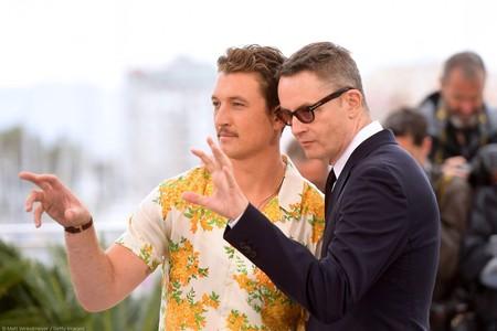 Miles Teller y Refn en Cannes