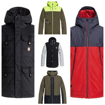 8 chaquetas para nieve rebajadas por menos de 81 euros en Quiksilver, DC Shoes y Roxy