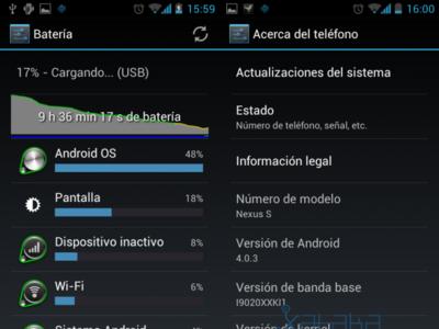 La OTA para ICS paralizada por un fallo de la batería en Nexus S