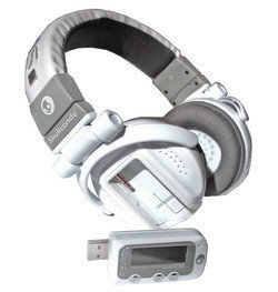 Auriculares multimedia con reproductor MP3 separable