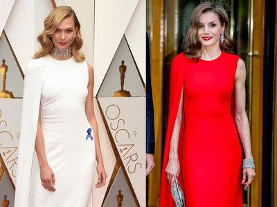 Duelo de estilo: Doña Letizia y Karlie Kloss, una Reina y una top model con un vestido de Oscar