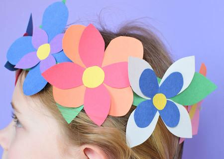 Manualidades Primavera Flores Papel Corona