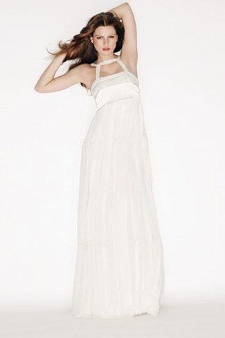 Karl Lagerfeld Lily Allen vestido novia escote halter