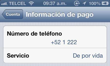 WhatsApp de por vida