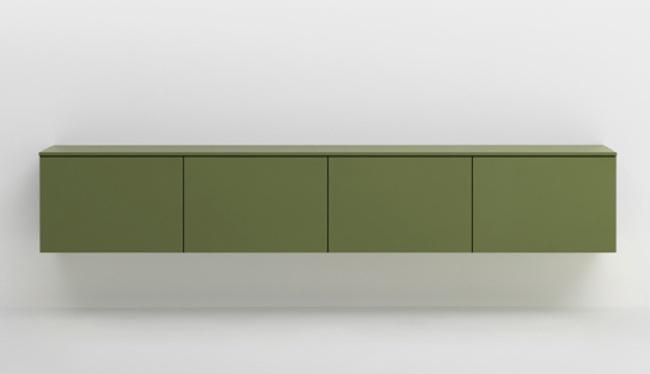 Muebles de almacenaje de colores alegres