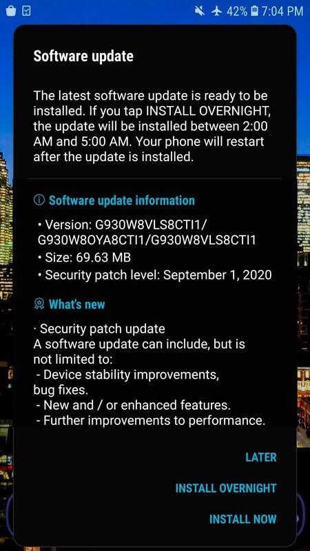 Parche Seguridad Galaxy S7