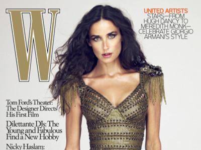 Demi Moore portada de W Magazine