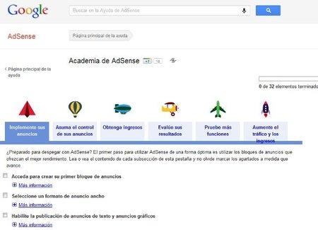 Academia de Google AdSense para mejorar el rendimiento publicitario
