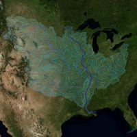La majestuosa cuenca del Misisipi, ilustrada en todo su esplendor a través de un gif de la NASA