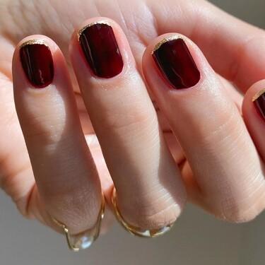Siete manicuras burdeos con las que dar un twist a tus uñas y no repetir siempre lo mismo