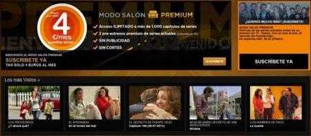 Antena 3 inaugura su Modo Salón Premium, otro servicio de TV a la carta por Internet insustancial